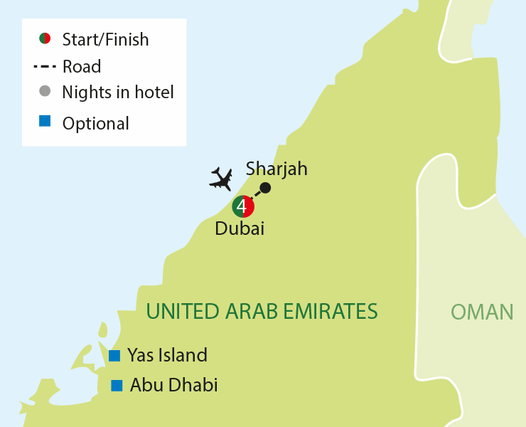 Dubai tour map