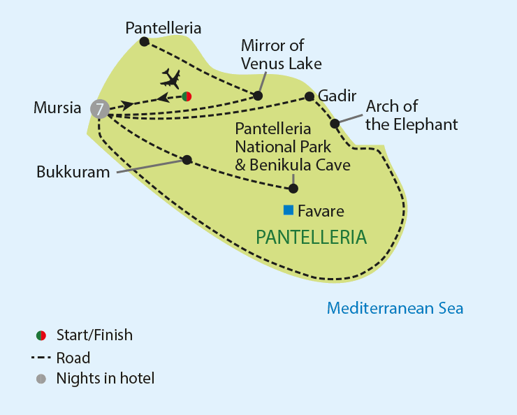Pantelleria - The Secret Island of Italy tour map