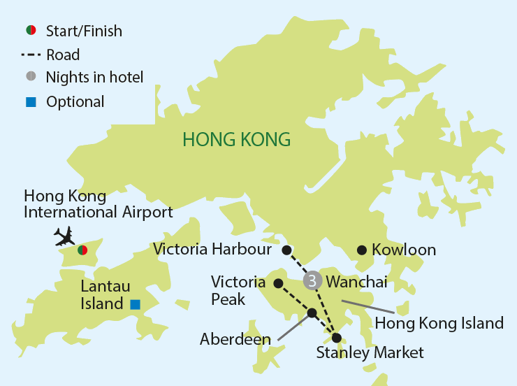 Hong Kong tour map