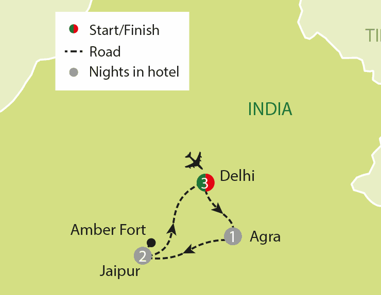 An Invitation To India tour map